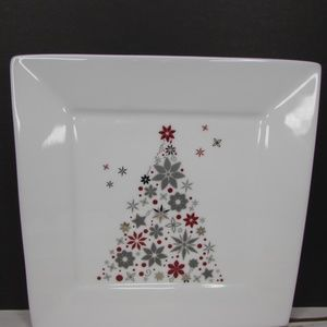 "Food Network Holiday Tree 8.25"" Square Sal…"